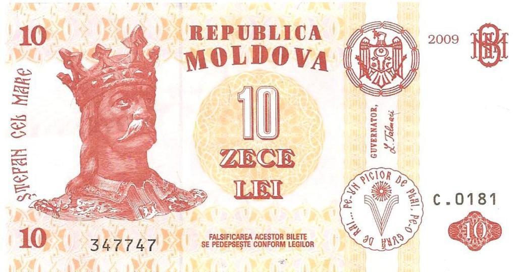 10 lei de Moldavia año 2009 Image