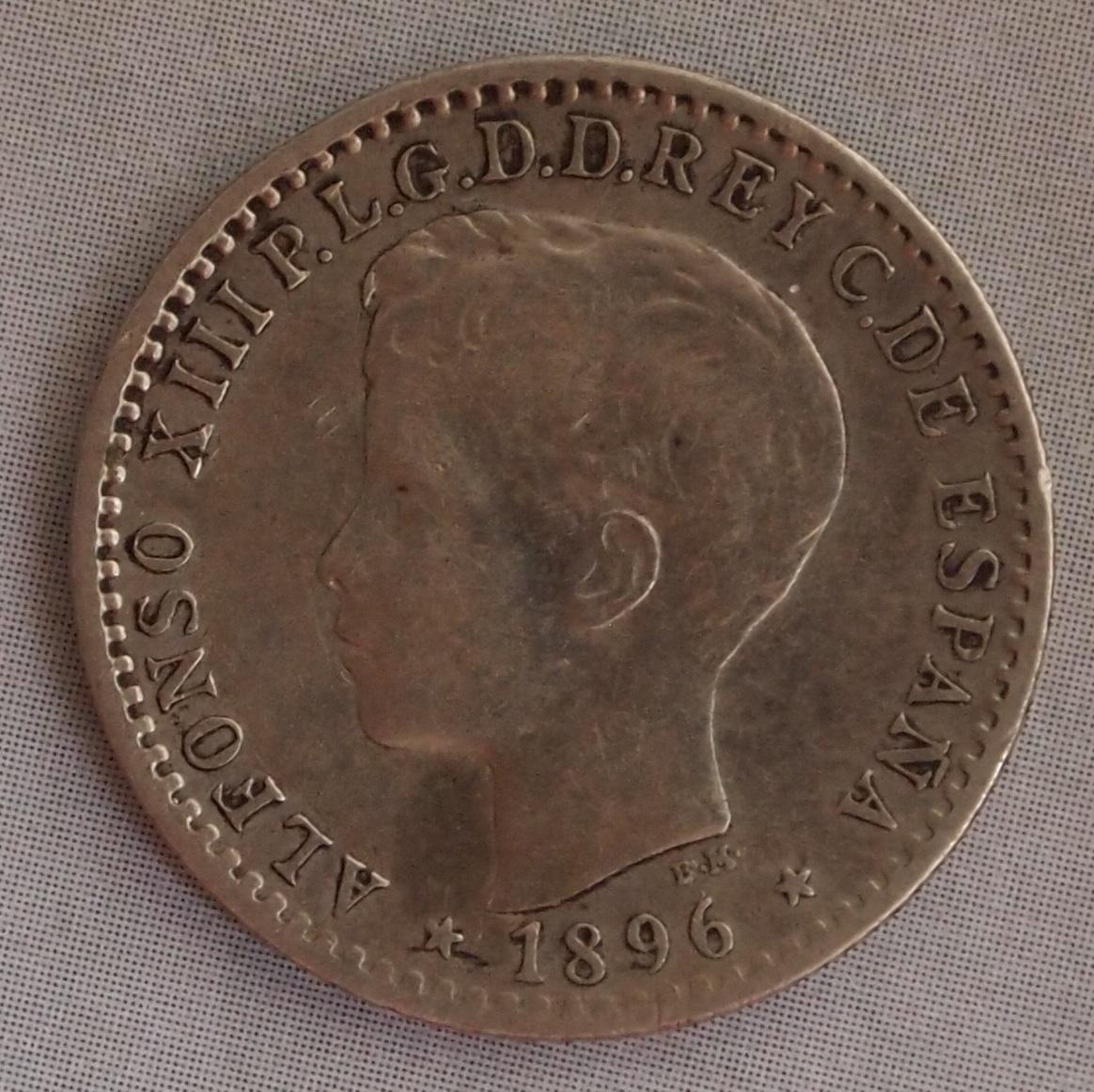 10 centavos alfonso XIII isla puerto rico 1896 1