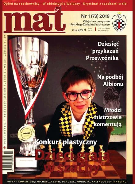 Chess Periodicals :: Czasopismo MAT (Polish Chess Magazine) Mat-73-2018-01