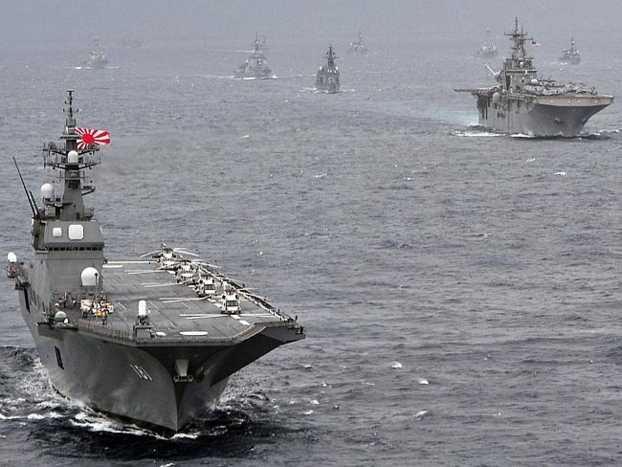 Japon establece como estrategia similar a China, limitar acceso a zonas aereas/maritimas territoriales FLOTAJAPONESACONDESTROYERS