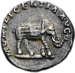 Glosario de monedas romanas. ELEFANTE. Image