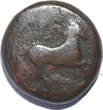 Bronce Æ 18. Cirenaica o Cirene. Ca. 322-313 a.C. Ciudad de Simón de Cirene o El Cirineo. 256