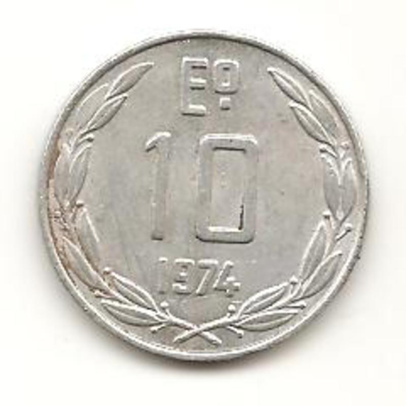 10 Escudos. Chile. 1974. Santiago de Chile Image