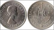 Ultima serie de Nueva Zelanda con el antiguo Sistema Monetario Nueva_Zelanda_1_Corona_1953