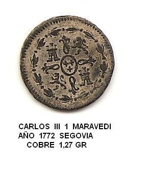 1 maravedí 1772. Carlos III. Segovia. 1_maravedi_2
