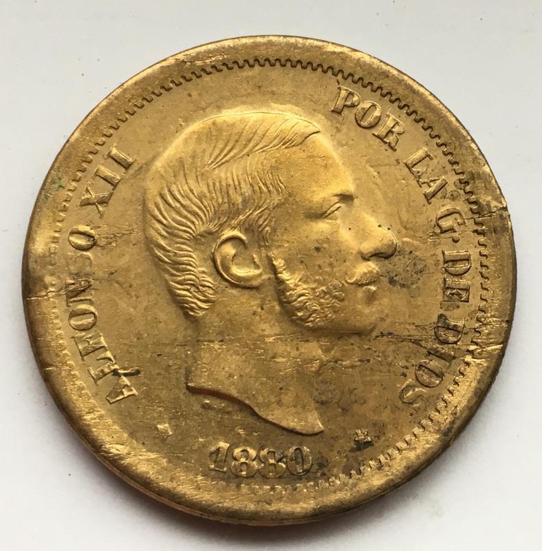 50 centavos de Peso 1880. Estado Español. Pruebas de máquinas. (Anmem dedit)  IMG_9604