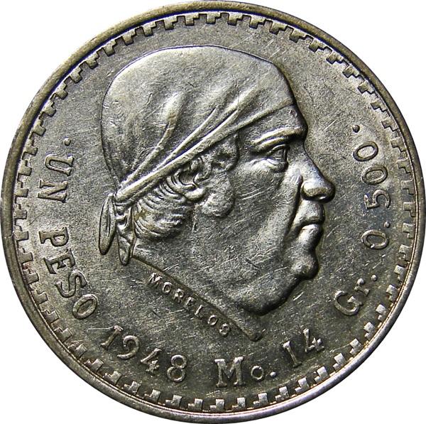 1 Peso. 1971. México 48_REV