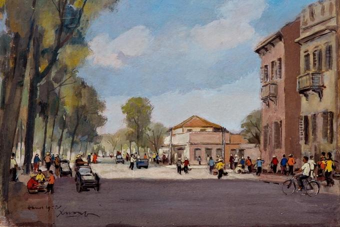 Hà Nội thập niên 1950 qua tranh bột màu Tranh-1-_Hanoi-1952-1536804638_680x0
