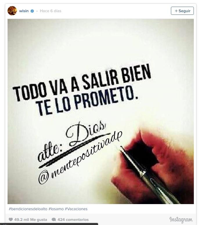 Tras la muerte de su hija Wisin se va de vacaciones a México Image