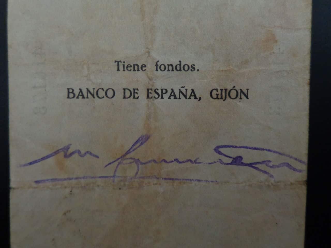 5 Pesetas 5 Noviembre 1936, Banco de España (Gijón)  DSC00676