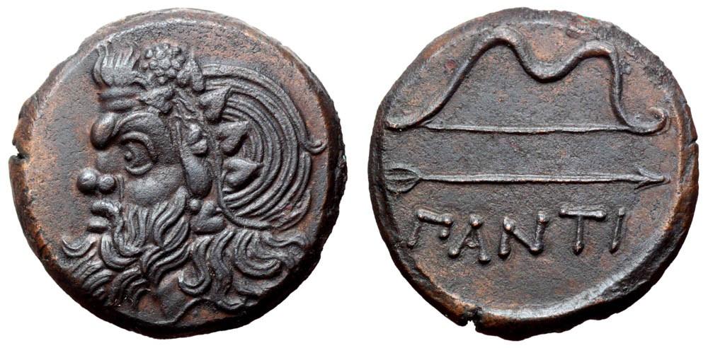 Æ26. Panticapeo (Actual ciudad de Kerch. Peninsula de Crimea). Reino del Bósforo Cimerio. 340-325 a.C. FDC. 2179235l