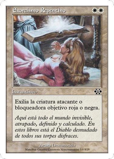 Cartas Magic Exorcismo_Repentino