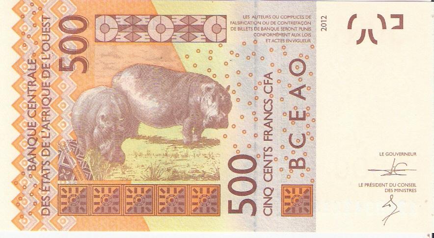 BILLETE DE 500 FRANCOS DEL 2.003 (SENEGAL) Escanear0013