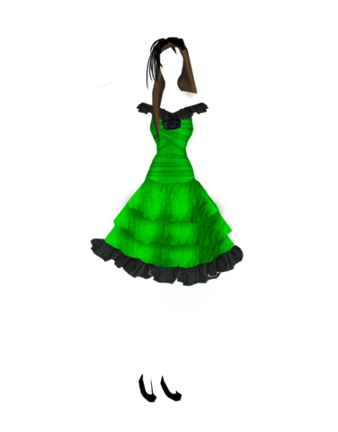A Simple Green and Black Party Dress (My first design) Hd_model_template_dark