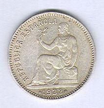 1 PESETA 1933 *3*4.  dedicada a Estrella 76 1_A
