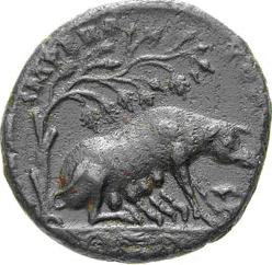 Glosario de monedas romanas. ENCINA. Image