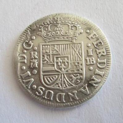 Patinar moneda de plata Fernando_VI_1_Real_REV