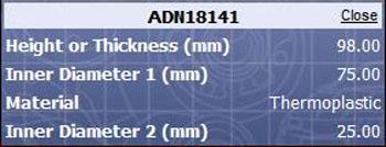 Tri lobe CV boot Adn18141