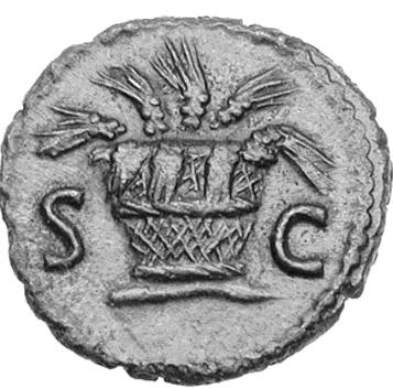 Glosario de monedas romanas. ESPIGAS. Image
