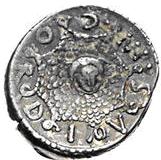 Glosario de monedas romanas. ÉGIDA - AEGIS. Image
