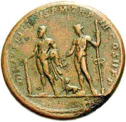 Glosario de monedas romanas. DIS AUSPICIBUS. Image