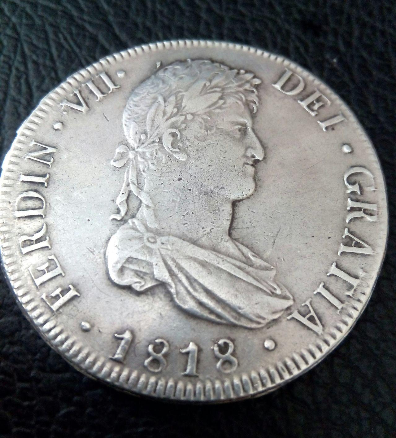 8 reales Fernando VII 1818 Potosí  IMG_20160222_134051