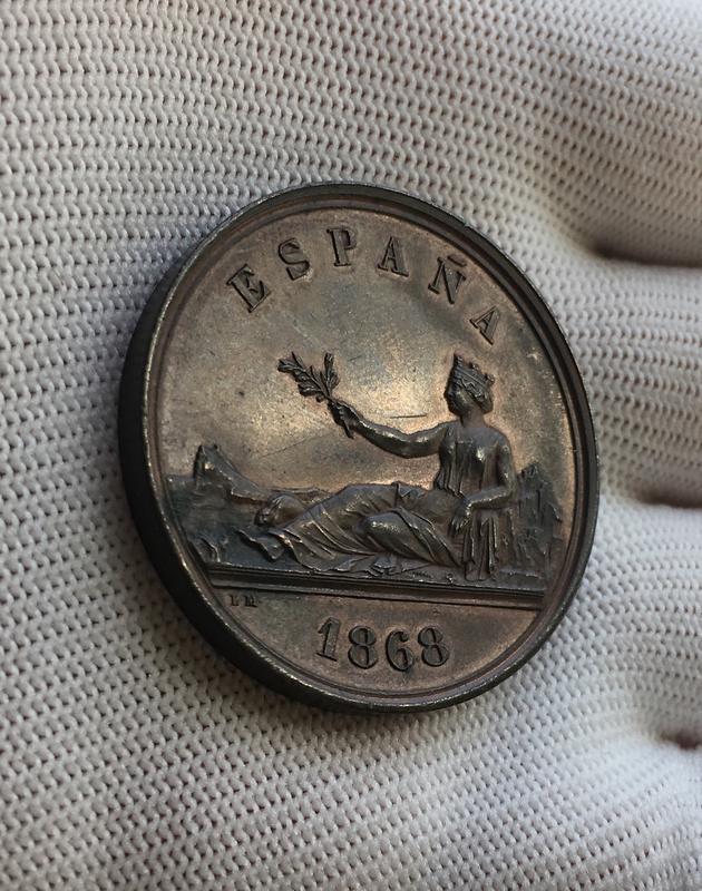 Medalla Soberanía Nacional. Gobierno Provisional 1868.  A945_EACC-_FC88-48_C8-_BD55-_D27_AAC155_DF5