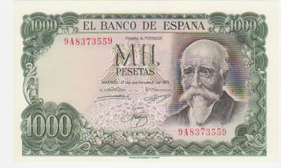 1000 Pesetas 1971 (Serie 9A) 1000_pesetas_1971_serie_9_A