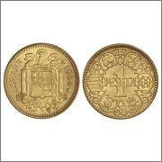 La leyenda de las monedas de 1 peseta año 1944 (Las famosas del 1) 11222780_1