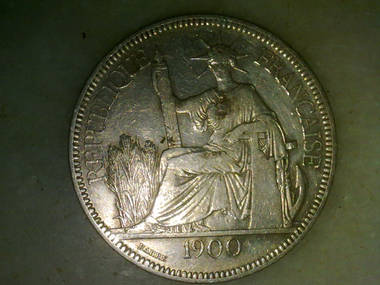 1 Piastre. Indochina Francesa. 1900. París Nnn_007