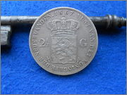2,5 gulden (Florines) Guillermo III 1867 Paises Bajos 2_5_gulden_1867_Paises_Bajos_Rever