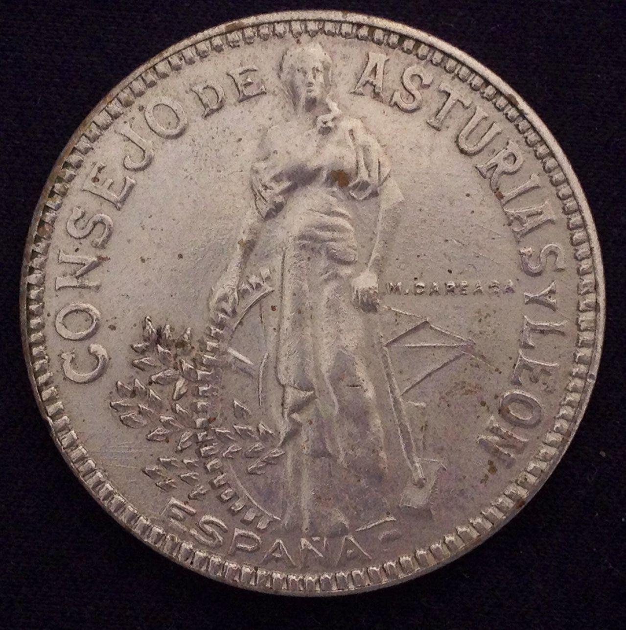 2 pesetas 1937 Cosejo de Asturias y León - Página 2 Image