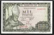 1000 pesetas 1965 (Doctores tiene la Iglesia) Obispo1