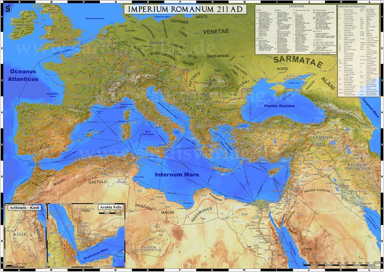 Mapa del Imperio Romano. Imperium_Romanum