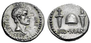 Glosario de monedas romanas. EID MART. Image