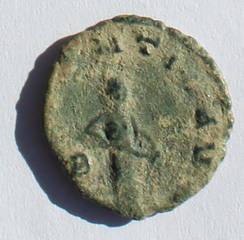 Antoniniano de Galieno. ABVNDANTIA AVG. Cca Roma. Galieno_rev