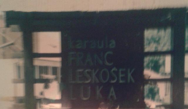 """Karaula """"Vič"""" VP 7646 - granični odsek Dravograd - 1986-1987 Natpis"""