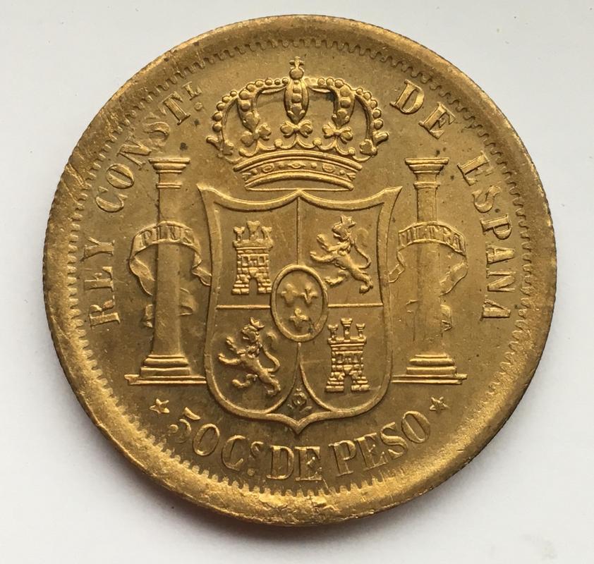 50 centavos de Peso 1880. Estado Español. Pruebas de máquinas. (Anmem dedit)  IMG_9607