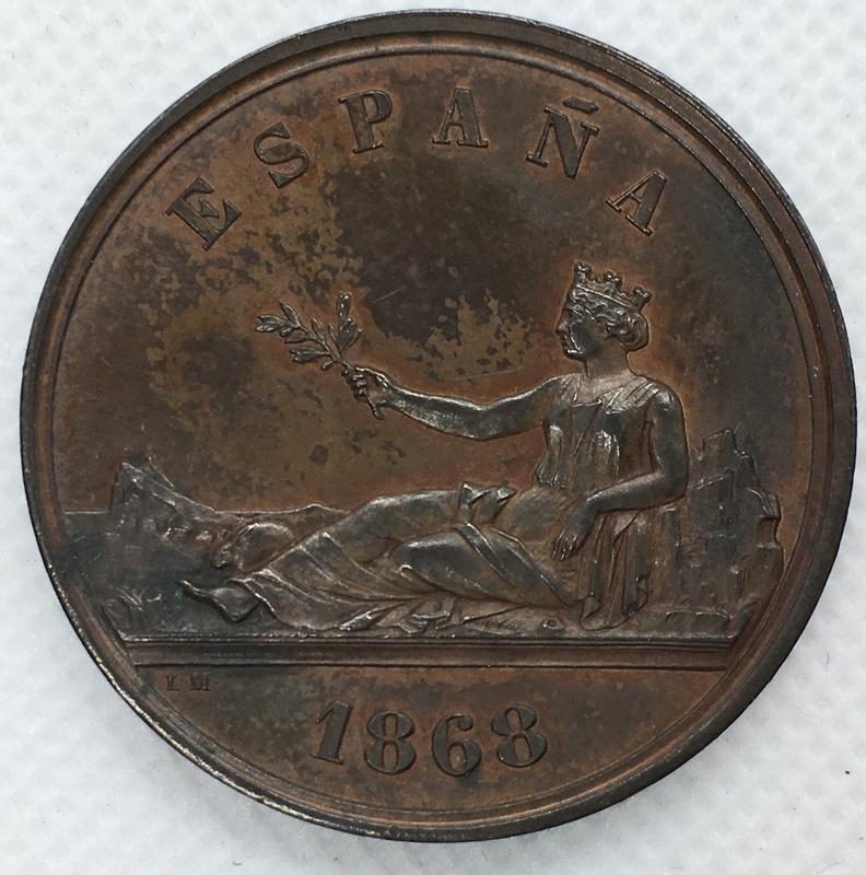 Medalla Soberanía Nacional. Gobierno Provisional 1868.  466_B6314-_B8_A2-4_B6_F-9_F0_F-_E5_A4_E0_EC4_B08
