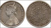 INDIA - Estados Nativos - ALWAR 1 Rupia India_Alwar_45_1_Rupia_1882