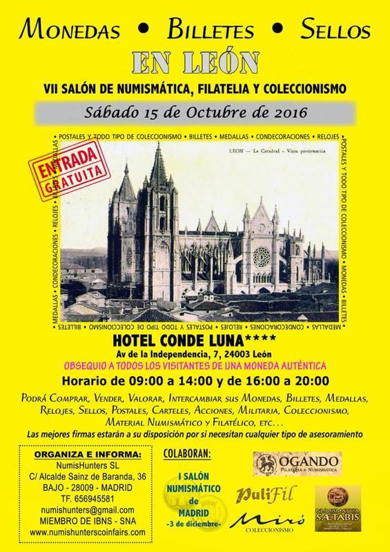 Convención numismática Sábado 15 de Octubre, León   Conle16