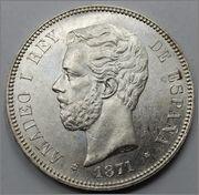 5 Pesetas Amadeo I Rey 1871 18*7?  57_5
