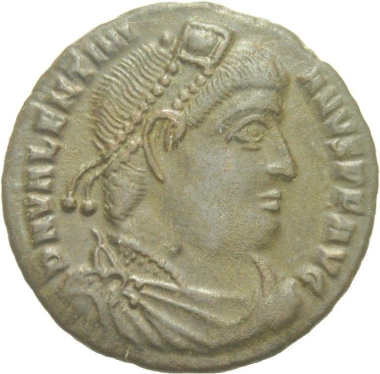 AE3 de Valente. GLORIA ROMANORUM. Siscia Image