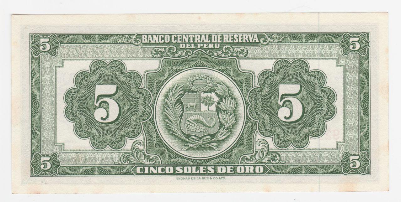 5 soles de oro 1966, Perú 5_soles_de_oro_1966_peru_001