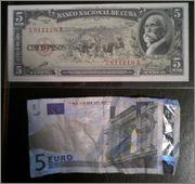 5 Pesos Cuba, 1960 Image