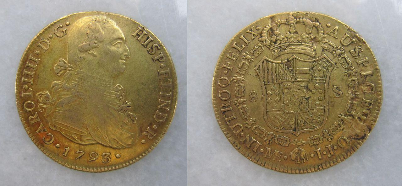 8 Escudos 1798. Carlos IV. Santa Fe de Nuevo Reino 8_escudos_Lima_1793_Carlos_IV