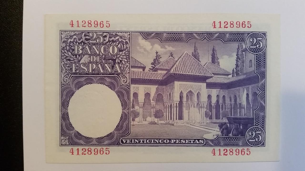 Colección de billetes españoles, sin serie o serie A de Sefcor pendientes de graduar 20161217_123032