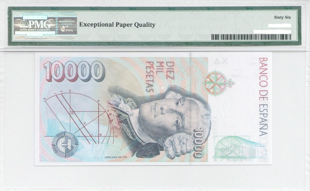 Colección de billetes españoles, sin serie o serie A de Sefcor - Página 3 10000_ptas_92_reverso