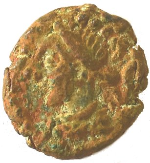 Æ Dracma. Orodes V y la Reina Ulfan. Reino Elymaida. ca 190 d.C. 216a