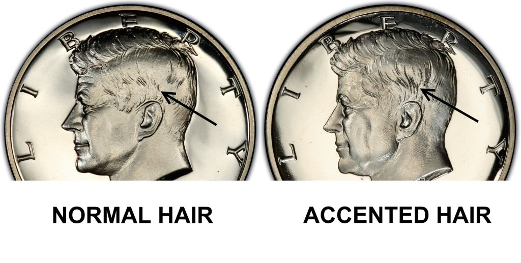 half dollar 1964 accented hair Image